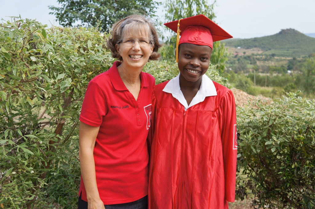 Kim Ochieng with JAMS Graduate