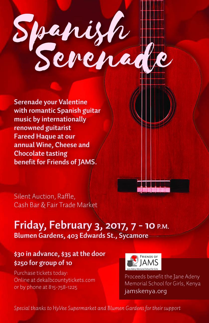 Friends of JAMS Fundraiser - Spanish Serenade 2017
